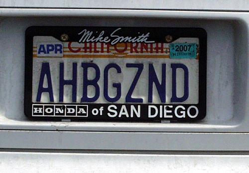 Jewish License Plates